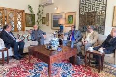 Chairman GRG meeting  with Mr. Jahangir Tareen