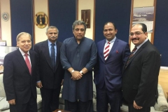 Chairman GRG and Director Corporate Affairs GRG meeting Pakistan's Federal Minister Maritime Affairs and his team
