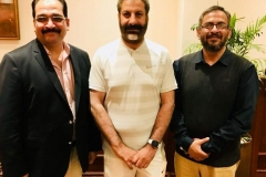 Chairman GRG and Director Corporate Affairs GRG with Member (Pakistan) National Assembly Mr Amjad Niazi